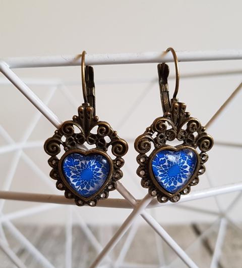 Earrings Cabochon Star Vintage