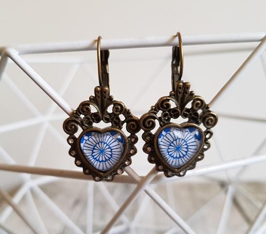 Earrings Vintage Cabochon