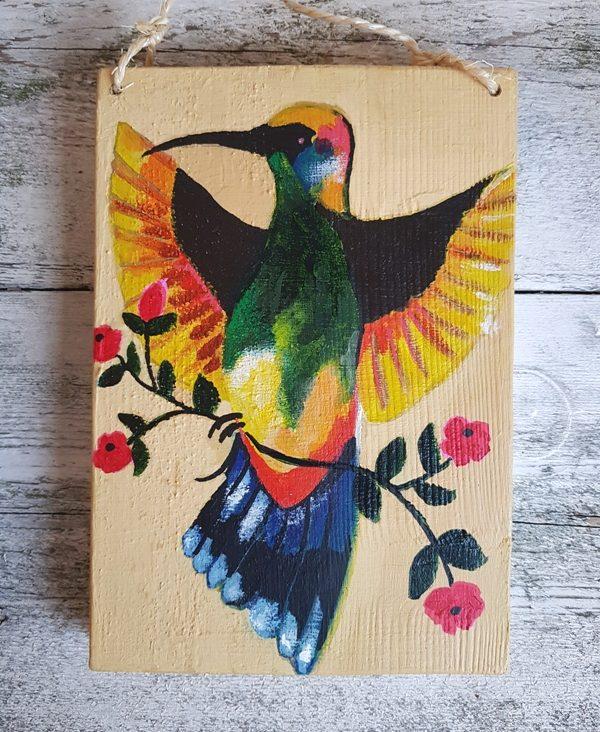 Mexicaans Steigerhout Schilderij Bird