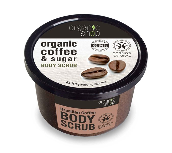 Organic Shop Body Scrub Brazilian Coffee