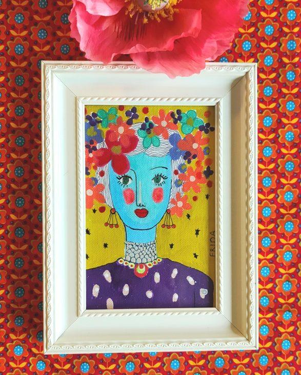 Portret Artwork Frida Kahlo