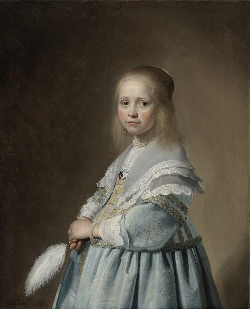 Rijksmuseum Portret van een meisje in blauw
